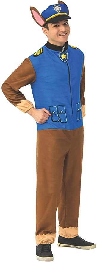 Rubie's Men's Paw Patrol Adult Chase Costume Jumpsuit, family halloween costumes 2021