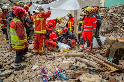 As many as eight people are feared to have been killed when two buildings crumbled in Marseille