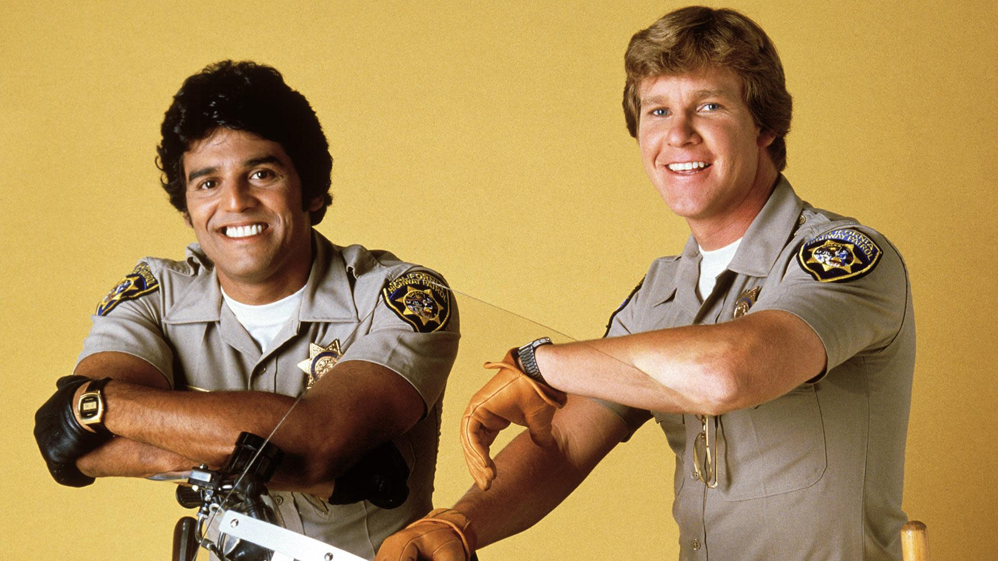 Erik Estrada and Larry Wilcox in 'CHiPs' (Everett Collection)