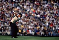 """<p>This is the year that <a href=""""https://www.pgatour.com/grand-slam/news/2015/04/12/grand-slam-tiger-woods.html"""" rel=""""nofollow noopener"""" target=""""_blank"""" data-ylk=""""slk:the Tiger Slam"""" class=""""link rapid-noclick-resp"""">the Tiger Slam</a> began. In 2000, the golfer won this first U.S. Open after a record 15-stroke victory. </p>"""