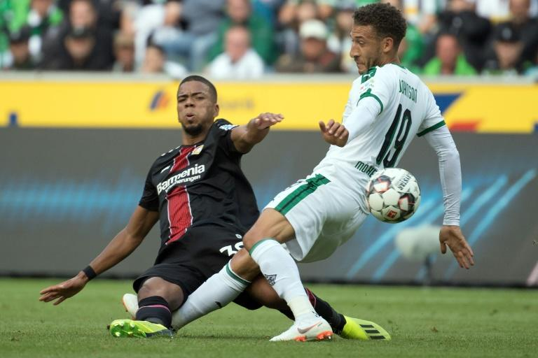 Fabian Johnson (R) scored one of the goals of the opening weekend of the 2018/19 Bundesliga season in Borussia Moenchengladbach's impressive 2-0 victory over Bayer Leverkusen on Saturday