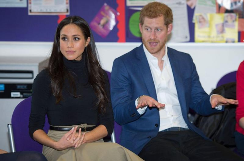 Apparently, Meghan will be taking a step back from public life. Here she is pictured with Prince Harry at their first official engagement in Nottingham this month. Photo: Getty Images