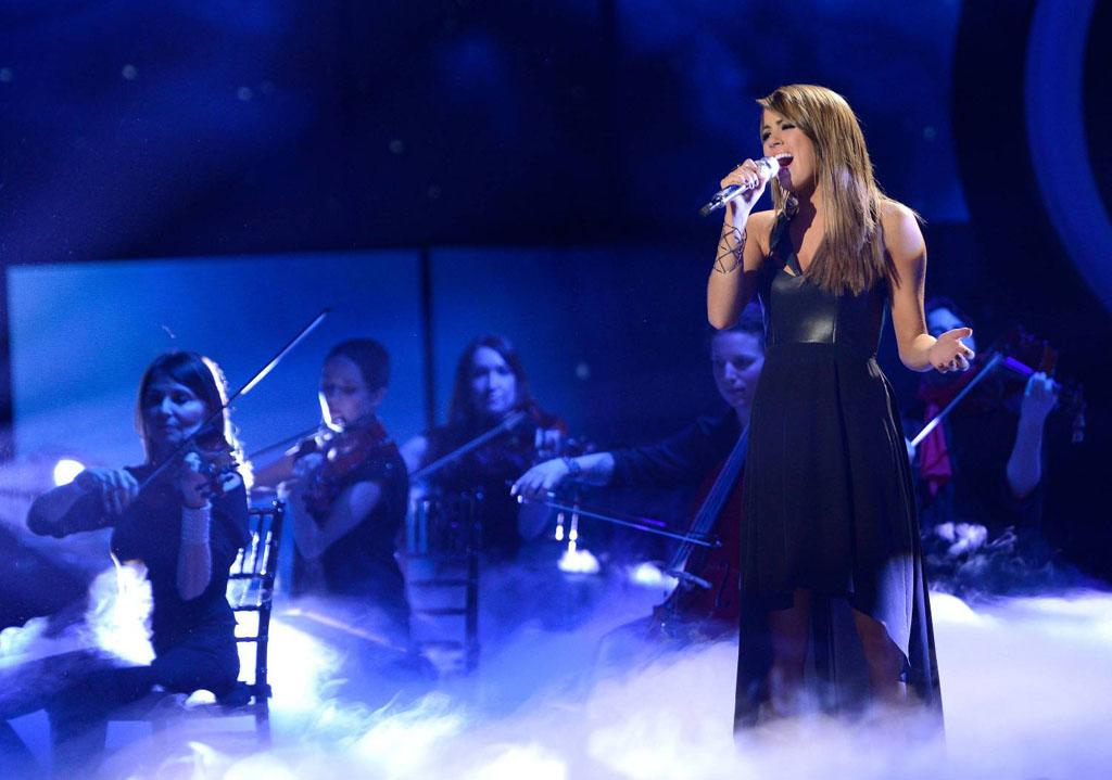 "Angie Miller performs ""Cry Me a River"" on the Wednesday, April 24 episode of ""American Idol."""