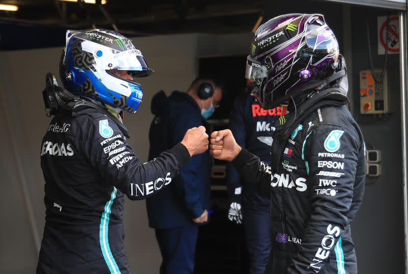 Less practice is better for Bottas and Hamilton