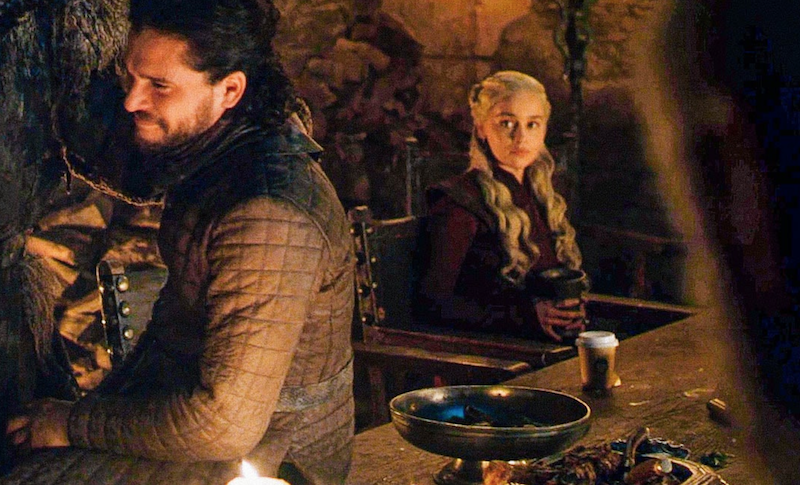 Emilia Clarke says the Game of Thrones coffee cup belonged to Varys