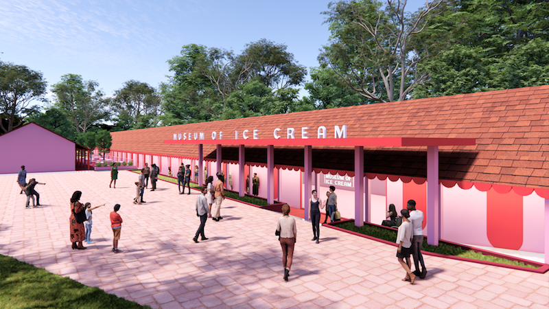 Artist Rendering Of The Facade At The Upcoming Museum Of Ice Cream Singapore