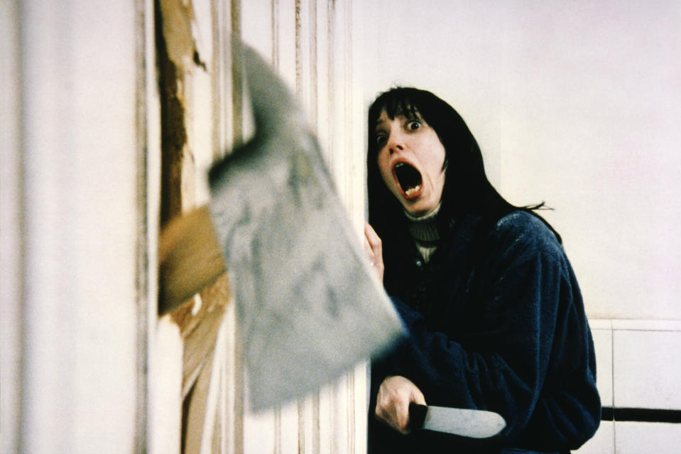 """Actress Shelley Duvall on the set of """"The Shining"""". (Photo by Sunset Boulevard/Corbis via Getty Images)"""