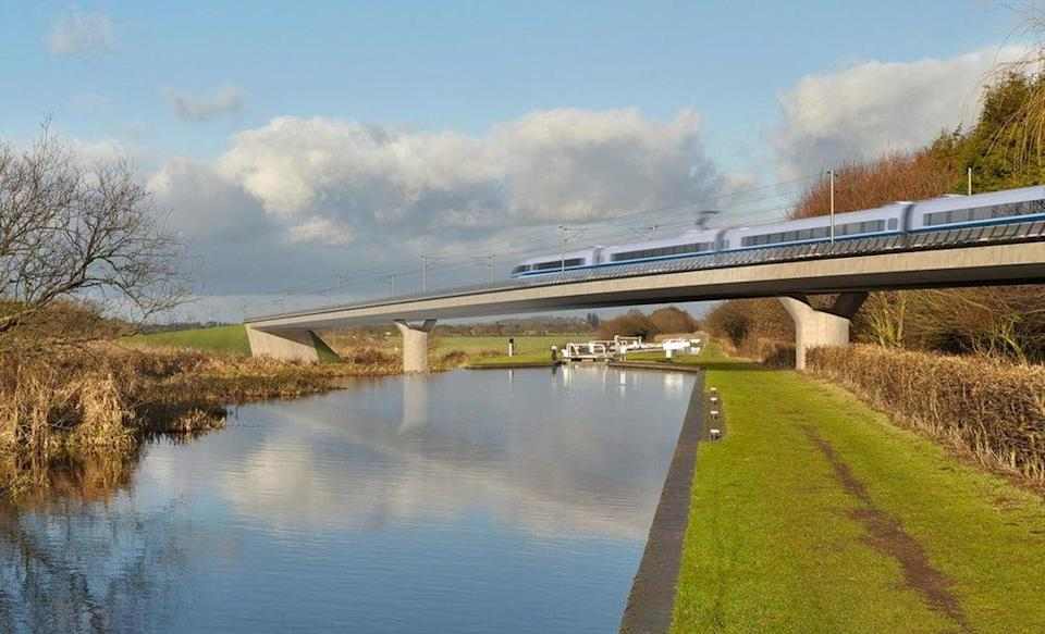 Transport Secretary Grant Shapps has signalled that a major rethink of the HS2 project between Birmingham and Leeds could be in order (HS2/PA) (PA Media)