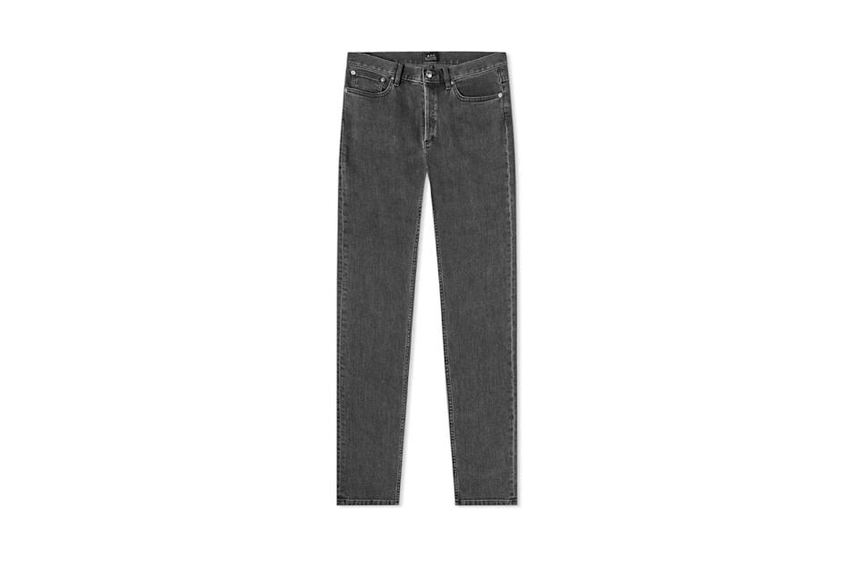 "$189, End Clothing. <a href=""https://www.endclothing.com/us/a-p-c-petit-standard-jean-cozzt-m09002-laa.html"" rel=""nofollow noopener"" target=""_blank"" data-ylk=""slk:Get it now!"" class=""link rapid-noclick-resp"">Get it now!</a>"
