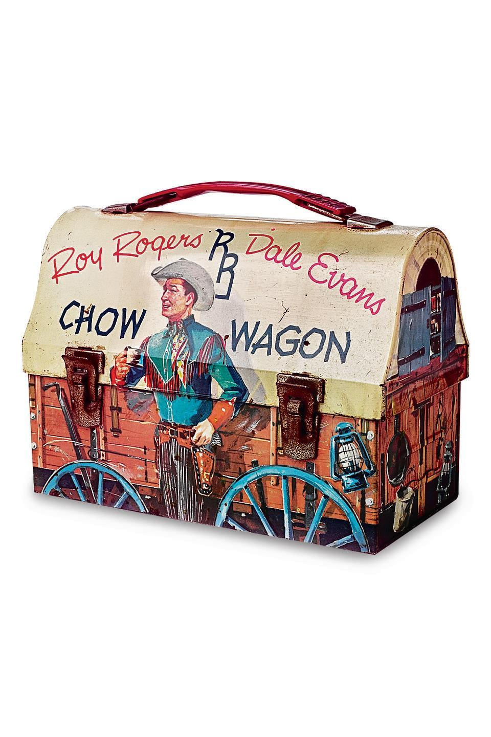 <p><strong>What it was worth (2004): </strong>$300</p><p><strong>What it's worth now:</strong> $65</p><p>This cowboy-covered lunch box is now worth less than a fourth of its original appraised value, but we still love the Western theme.</p>