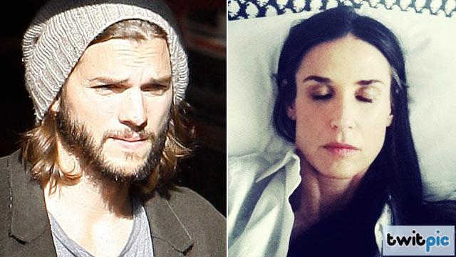 Demi Moore and Ashton Kutcher Attend Kabbalah Service Together