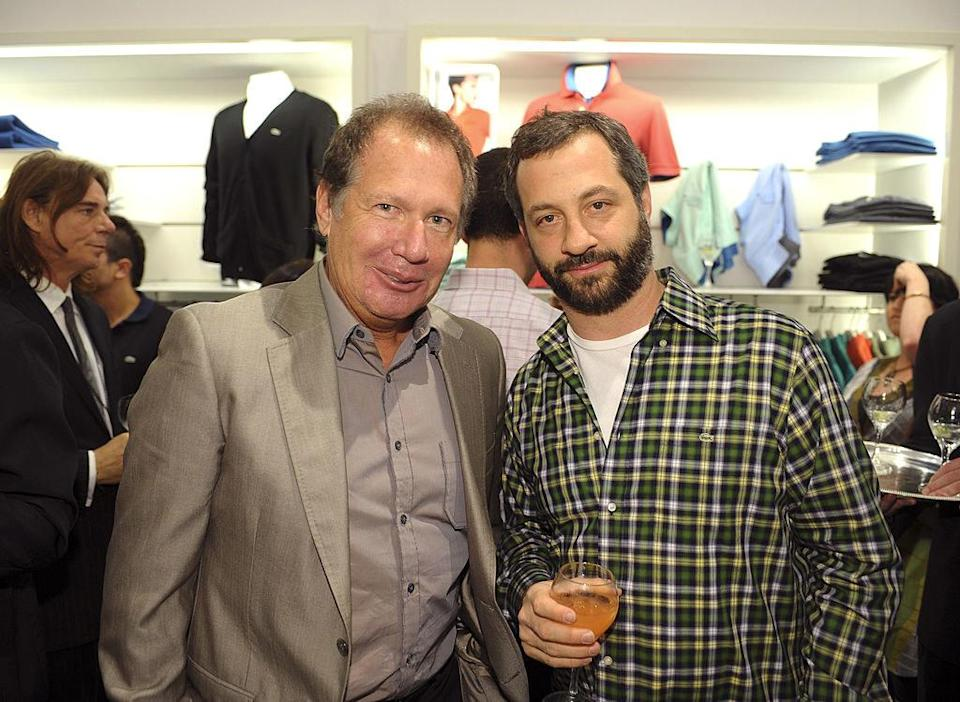 Garry Shandling and Judd Apatow together at an event