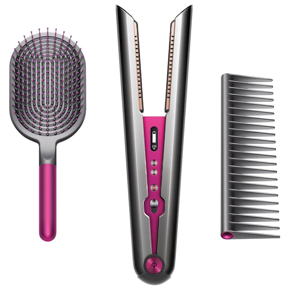 "<h3>Dyson Corrale Hair Straightener Gift Set</h3><br>Back in March, Dyson unveiled its Bugatti of straighteners, <a href=""https://www.refinery29.com/en-us/2020/03/9531524/dyson-corrale-straightener-launch"" rel=""nofollow noopener"" target=""_blank"" data-ylk=""slk:the Corrale"" class=""link rapid-noclick-resp"">the Corrale</a>. However, Sephora's sale is the first time we've seen this year that you can nab it at a discount(!).<br><br><strong>Dyson</strong> Corrale Hair Straightener Gift Set, $, available at <a href=""https://go.skimresources.com/?id=30283X879131&url=https%3A%2F%2Ffave.co%2F3nsShdI"" rel=""nofollow noopener"" target=""_blank"" data-ylk=""slk:Sephora"" class=""link rapid-noclick-resp"">Sephora</a>"