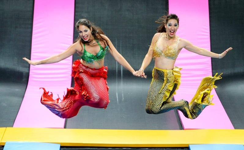 Mermaids bounce around to keep fit
