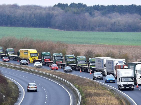 The government has already conducted trials to manage the massive queues expected at ports in a no-deal scenario (REUTERS)