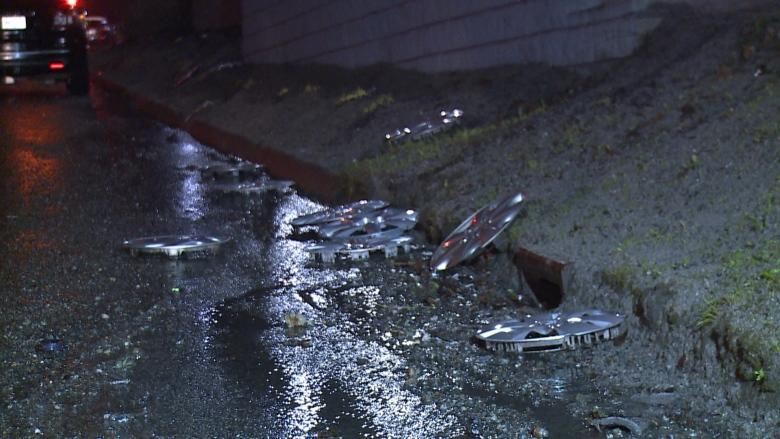 Monster pothole causes multiple blown tires in Surrey