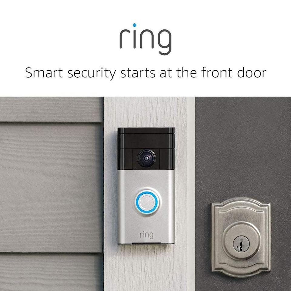 <p>Now thanks to the <span>Ring Video Doorbell</span> ($100), you don't have to wonder who's at the door, even if you're out of town.</p>