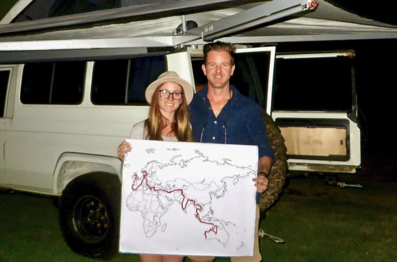 Mark Firkin and Jolie King left on their journey in June 2017. Source: Instagram - The Way Overland.
