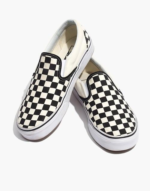 <p>These playful <span>Vans Unisex Classic Slip-On Sneakers</span> ($50) are so on-board with the checkerboard trend, and they will go with everything.</p>