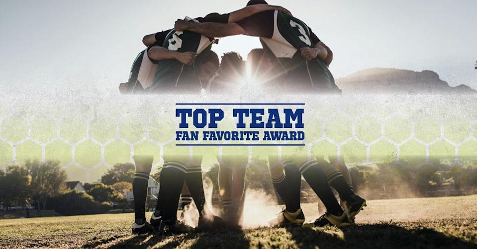 The winner of the Top Team Fan Favorite Award will be announced during the Central FloridaHigh School Sports Awards and will receive a trophy after the on-demand broadcast.