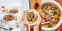"""<p>We love any recipe that calls for a <a href=""""https://www.delish.com/uk/cooking/recipes/g30220431/slow-cooker-recipes/"""" rel=""""nofollow noopener"""" target=""""_blank"""" data-ylk=""""slk:slow cooker"""" class=""""link rapid-noclick-resp"""">slow cooker</a>, from <a href=""""https://www.delish.com/uk/cooking/recipes/a30559689/slow-cooker-pork-shoulder-recipe/"""" rel=""""nofollow noopener"""" target=""""_blank"""" data-ylk=""""slk:pork shoulder"""" class=""""link rapid-noclick-resp"""">pork shoulder</a> to <a href=""""https://www.delish.com/uk/cooking/a34795291/slow-cooker-mushroom-risotto/"""" rel=""""nofollow noopener"""" target=""""_blank"""" data-ylk=""""slk:mushroom risotto"""" class=""""link rapid-noclick-resp"""">mushroom risotto</a>. There's just nothing like coming home to a meal that's practically already made for you. Better yet, they're great for when you're feeling strapped for time but craving something hearty and delicious. For a range of easy autumn slow cooker recipes, take a look at 25 of our favourites now. </p>"""
