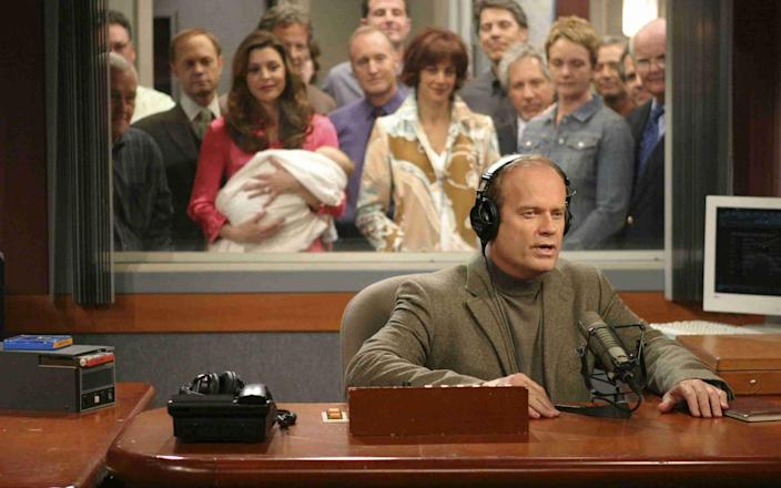 'Goodnight Seattle': Kelsey Grammer in the final episode of Frasier, which was watched by 33.7 million US viewers
