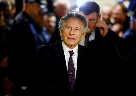 FILE PHOTO - Roman Polanski walking on a corridor during a break of a court hearing in Krakow
