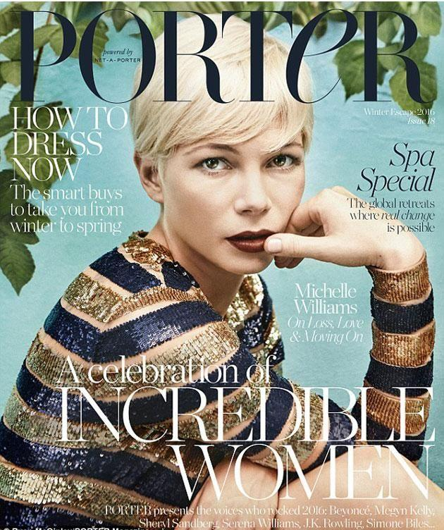Michelle on the cover of Porter. Source: Porter.