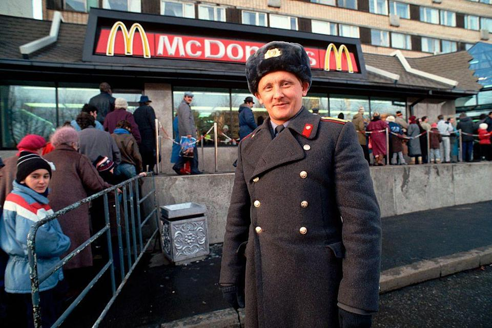<p>The first McDonald's in Russia was located on Gorky Street in Moscow and its opening set the record for most customers served in one day (over 30,000, in case you're wondering).</p>