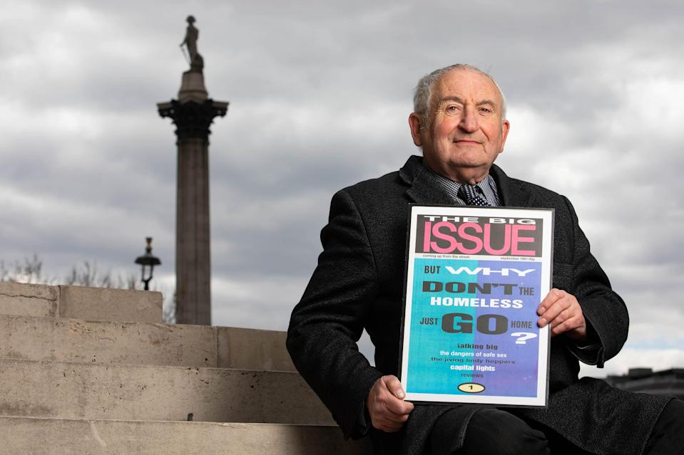 Lord John Bird, founder of The Big Issue, launches new campaign to prevent homelessness (David Parry/PA)