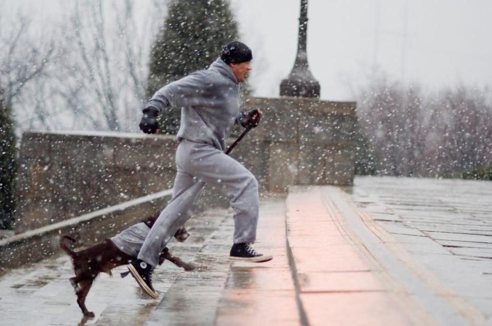 Sylvester Stallone in a scene from Rocky Balboa.
