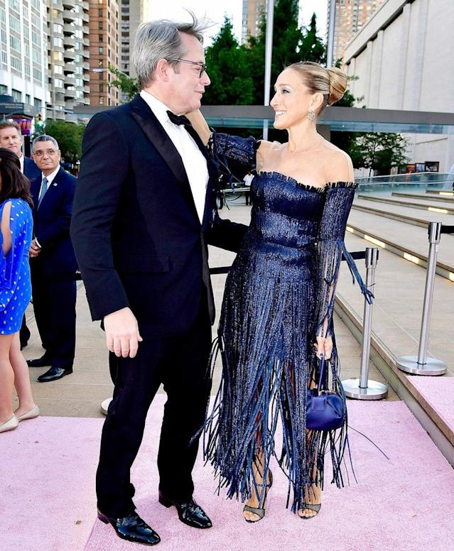 "<p>The longtime supporters of the New York City Ballet brought the glamour to the troupe's 2017 Fall Fashion Gala. Unfortunately, SJP also brought the sad news that there definitely will <em>not</em> be <a href=""https://www.yahoo.com/entertainment/sex-city-3-not-happening-sarah-jessica-parker-174528415.html"" data-ylk=""slk:a third Sex and the City movie;outcm:mb_qualified_link;_E:mb_qualified_link"" class=""link rapid-noclick-resp newsroom-embed-article"">a third <em>Sex and the City </em>movie</a>. (Photo: Getty Images) </p>"