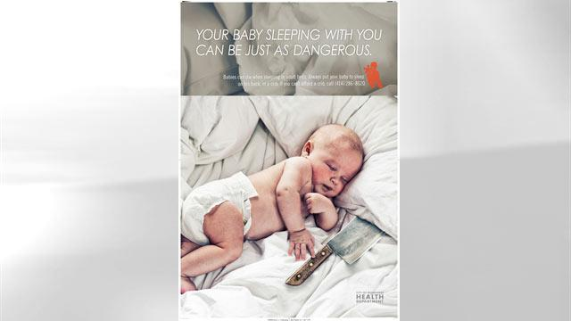 Milwaukee Runs Provocative Ads to Wake Parents Up to Dangers of Co-Sleeping