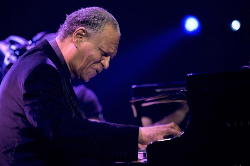 FILE - In this July 14, 2009 file photo, jazz pianist McCoy Tyner performs during the 43rd Montreux Jazz Festival in Montreux, Switzerland. The groundbreaking and influential jazz pianist and the last surviving member of the John Coltrane Quartet, has died, his family said on Friday, March 6, 2020. He was 81. (AP Photo/Keystone, Dominic Favre, File)