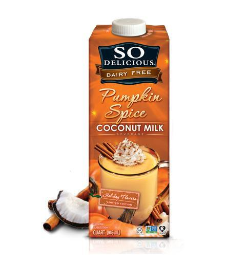 Pumpkin-spiced coconut milk to dunk your Oreos in.