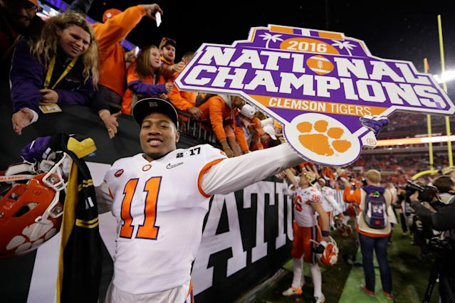 Clemson beat Alabama in the teams' national title rematch. (Getty)