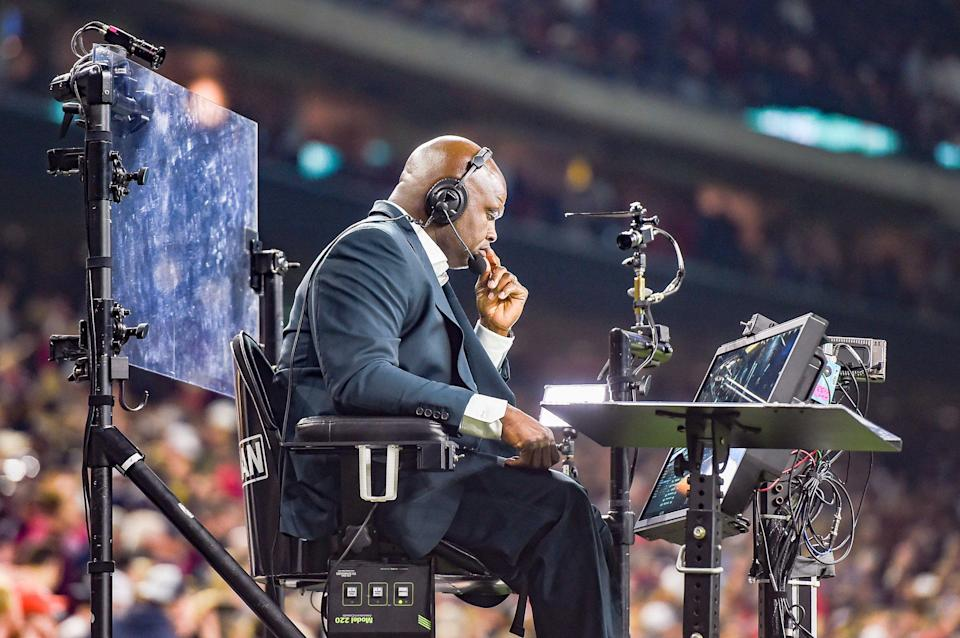 Booger McFarland's moving cart for Monday night games is being retired. (Getty)