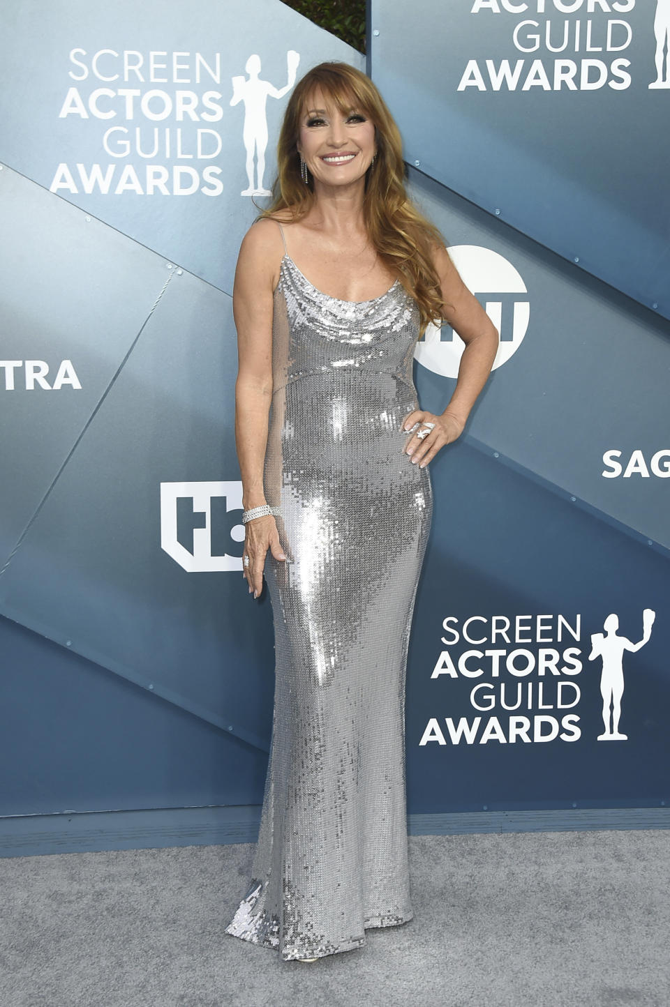 Jane Seymour arrives at the 26th annual Screen Actors Guild Awards at the Shrine Auditorium & Expo Hall on Sunday, Jan. 19, 2020, in Los Angeles. (Photo by Jordan Strauss/Invision/AP)