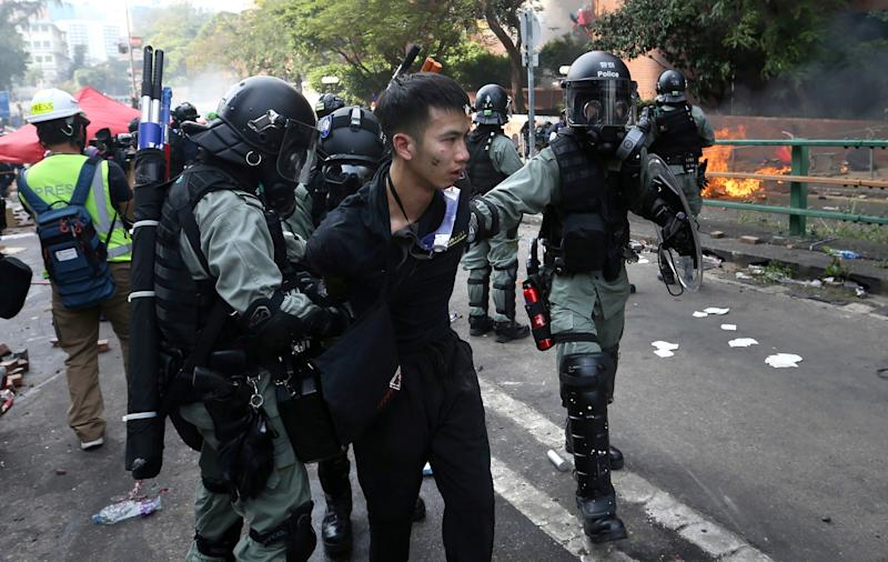 Carrie Lam says 600 were detained on Monday, 200 of whom were found to be under 18 and not immediately arrested: AP
