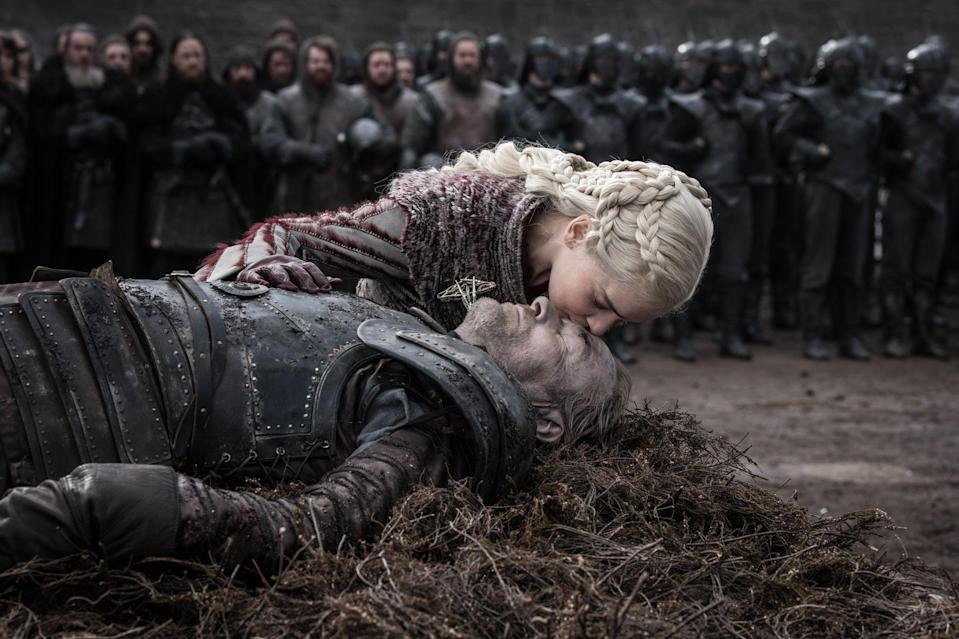 """<p>Whether you're Team Daenarys or <a href=""""https://www.popsugar.com/entertainment/Who-Kill-Daenerys-Game-Thrones-46148297"""" rel=""""nofollow noopener"""" target=""""_blank"""" data-ylk=""""slk:Team Kill the Mad Queen"""" class=""""link rapid-noclick-resp"""">Team Kill the Mad Queen</a>, it was hard for us not to turn on the waterworks when <a href=""""https://www.popsugar.com/entertainment/Jorah-Mormont-Dead-Game-Thrones-46081378"""" rel=""""nofollow noopener"""" target=""""_blank"""" data-ylk=""""slk:Ser Jorah Mormont gives his life"""" class=""""link rapid-noclick-resp"""">Ser Jorah Mormont gives his life</a> to protect the Mother of Dragons during the Battle of Winterfell. We've been well aware she is the love of his life since early on in the series, so when he does everything in his power to protect her from a throng of wights, the emotions certainly started flowing. </p> <p>We knew from the second we saw him interact with Daenarys that he was going to die some way or another saving her hide. It was inevitable. While we wish we could've seen him go out during a stronger episode (or at least <a href=""""https://www.popsugar.com/entertainment/Game-Thrones-Brightened-Battle-Winterfell-Scenes-46095834"""" rel=""""nofollow noopener"""" target=""""_blank"""" data-ylk=""""slk:one that was bright enough for us to see"""" class=""""link rapid-noclick-resp"""">one that was bright enough for us to see</a> what was happening), in the end, Jorah's death is a fair send-off for the longtime character.</p>"""