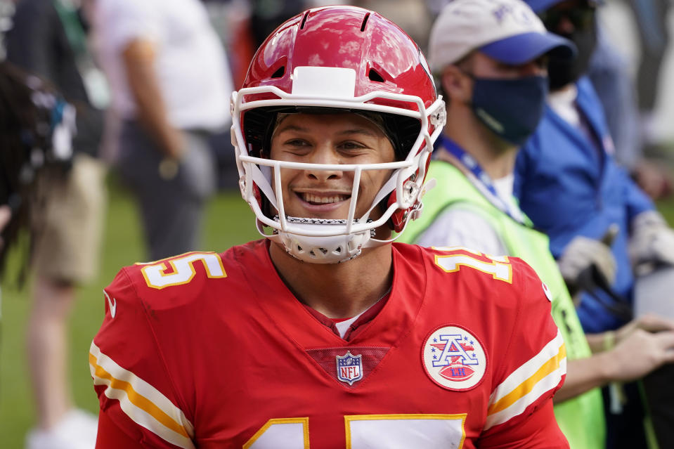 Patrick Mahomes is the clear favorite to win 2020 NFL MVP. (AP Photo/Orlin Wagner)