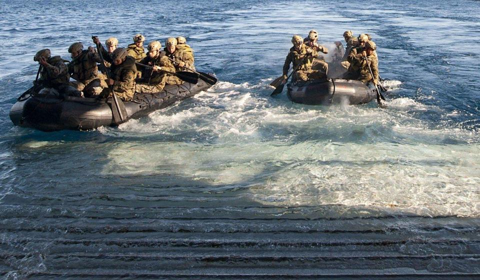 Marines during a military exercise conducted biennially across northern Australia designed to enhance the US-Australia alliance. Photo: US Navy