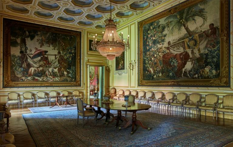 The Liria Palace is home to one of Spain's most important private art collections that includes paintings by Goya, Velazquez and Rubens. (AFP Photo/Handout)