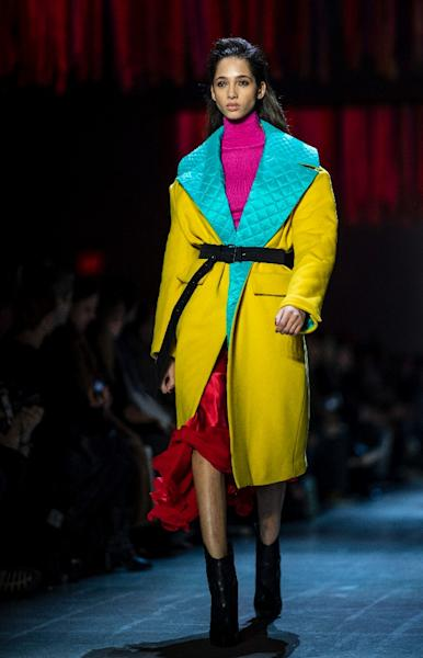 Prabal Gurung offered women a palette of bright colors for autumn-winter 2019 (AFP Photo/Johannes EISELE)