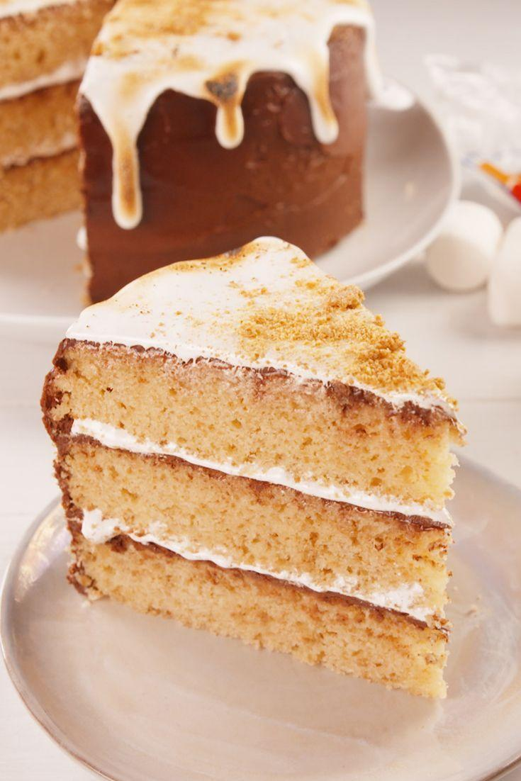 """<p>Bring a little piece of summer to Christmas with this s'mores cake.</p><p>Get the recipe from <a href=""""https://www.delish.com/cooking/recipe-ideas/a21204628/smores-cake-recipe/"""" rel=""""nofollow noopener"""" target=""""_blank"""" data-ylk=""""slk:Delish"""" class=""""link rapid-noclick-resp"""">Delish</a>. </p>"""