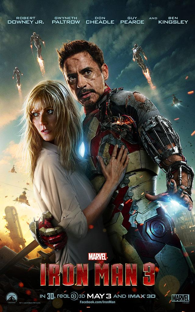 "Robert Downey Jr. and Gwyneth Paltrow star in Marvel Studios' ""Iron Man 3"" - 2013"