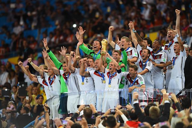 Germany lifted the World Cup trophy in 2014. Are the Germans favorites to defend their crown? (Getty)