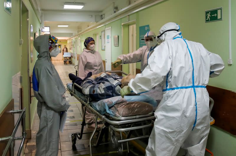 FILE PHOTO: Hospital for COVID-19 patients in Moscow