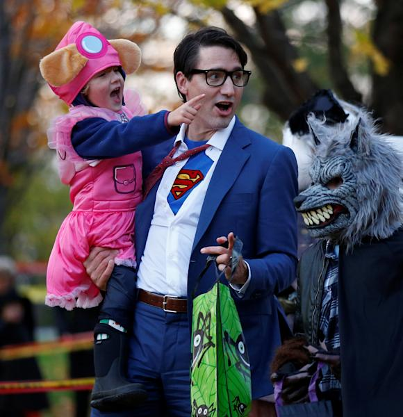 The Canadian prime minister got into the Halloween spirit on Tuesday and showed up to work at the House of Commons in his costume.