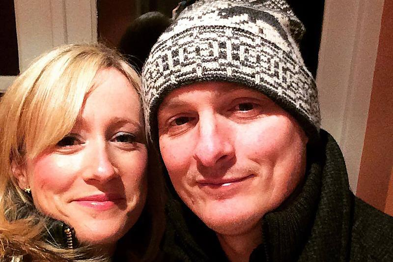 Daniel Nicholson, right, pictured with his wife Joanne, was one of the men who saved the people in the plane (Picture: Caters)